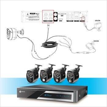 4 Gas Detector   Anni Security Surveillance Kit, 8CH 1080N Digital Video Recorder, 4 X 1080P Cameras With PIR Sensor, Gas Detector ,Siren NO HDD