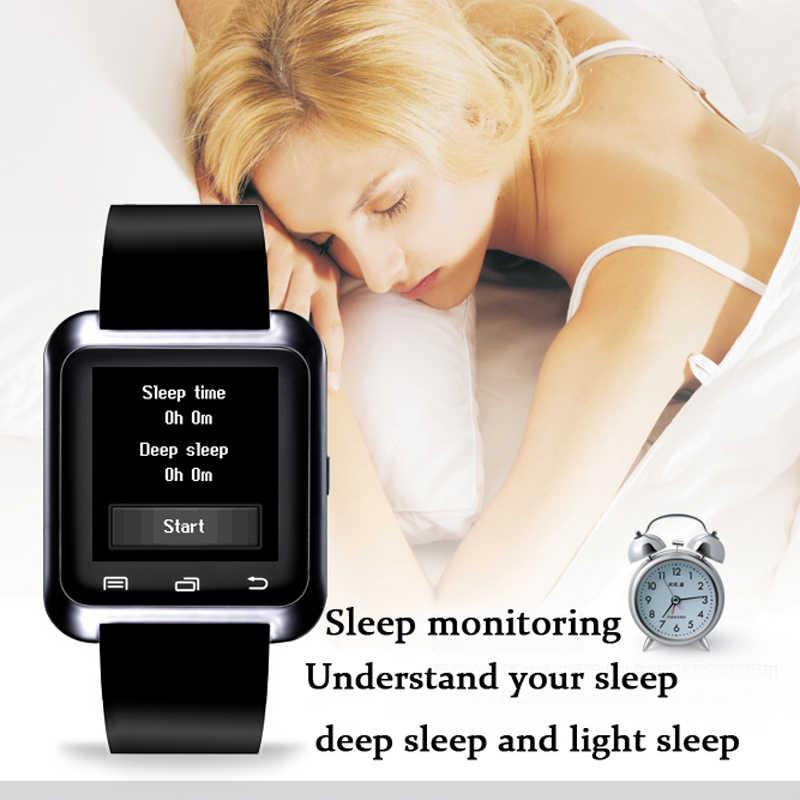 2018 人気のスポーツスマート腕時計男性と女性のスポーツ歩数計スマートウォッチ睡眠監視サポート SIM カードの Bluetooth 音楽プレーヤー