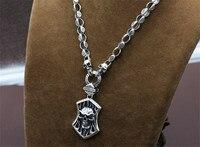 7 мм 925 ювелирные изделия из стерлингового серебра для мужчин и женщин модное популярное колье Подвеска винтажный тайский серебристый налет