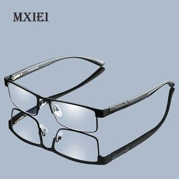 73c91ab367 Casual de negocios de Metal completo gran marco lentes de resina mujer  hombre gafas de lectura mujeres hombres Unisex gafas de + 1,0, 1,5 2 2,5 3  3,5 4