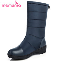 MEMUNIA Ankle Boots For Women In Winter Boots Fashion Contracted Platform Shoes Keep Warm Snow Boots