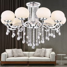 Diameter 900mm Glass shade K9 crystal chandeliers new modern fashion lamp brief circle led lighting RD-013