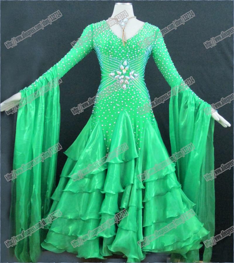 100٪ جودة عالية الحديثة الفالس تانجو قاعة الرقص اللباس ، السلس قاعة اللباس ، معيار قاعة اللباس الفتيات B-0346