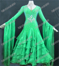 100% high quality  Modern Waltz Tango Ballroom Dance Dress, Smooth Ballroom Dress,Standard Ballroom Dress Girls B-0346