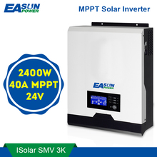 EASUN 전원 2400W 태양 광 인버터 220V 40A MPPT 3Kva 순수 사인 웨이브 인버터 50Hz 60HZ 그리드 인버터 24V 배터리 충전기 해제