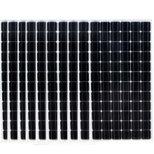 Solar Energy System 2KW 2000w Placa Solar Monocristalino 200w 36v 10Pcs 24v Battery Charger Off On