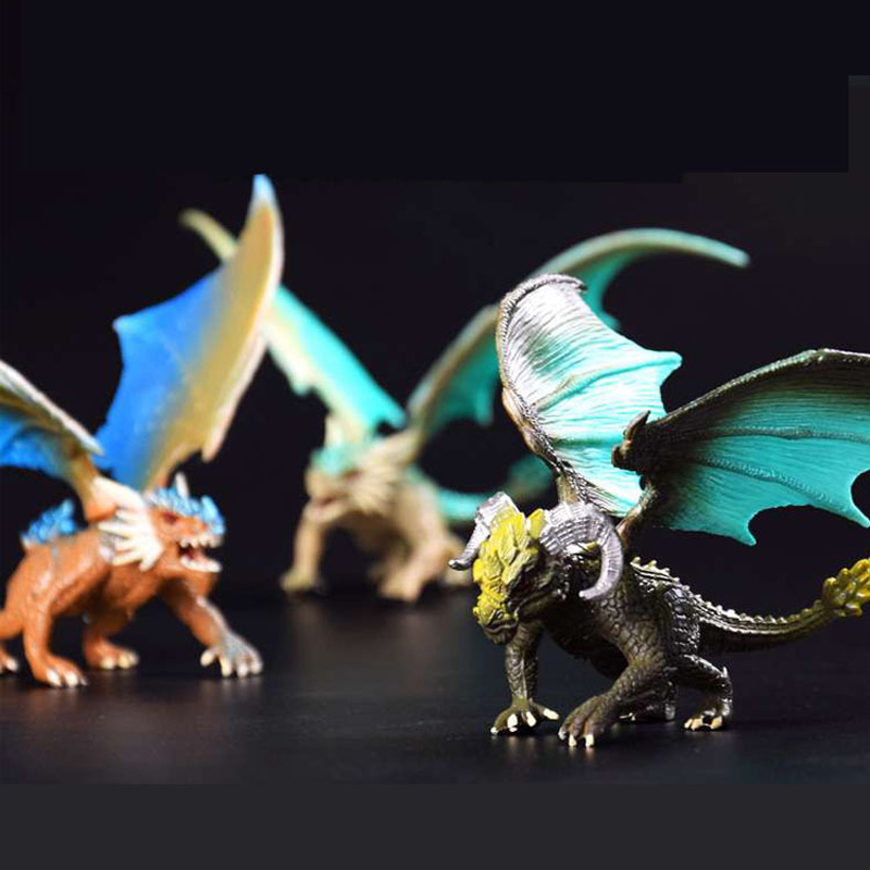 Image 5 - 1Pcs 12cm Simulation Magic Dragon Dinosaurs Archaeopteryx PVC Solid Action Figure Toy Doll Model Decoration Kid Adult Gift-in Action & Toy Figures from Toys & Hobbies