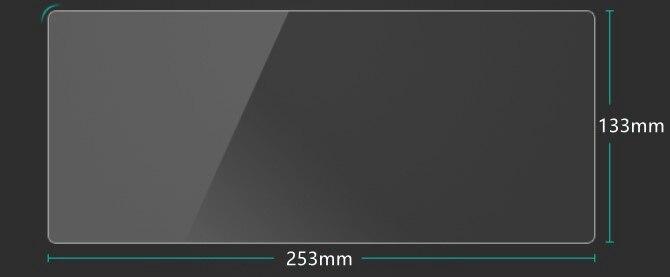 Автомобильное закаленное Стекло ЖК-дисплей Экран Стикеры DVD Защитная Плёнки стерео Мультимедиа для Skoda kodiaq Интимные аксессуары 253*133 мм