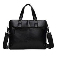 Três alças de Bolsas de Couro Business Casual Elegante Zipper Shoulder Crossbody Bag Silt Bolso Homem inimigo