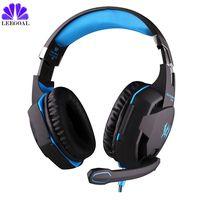 G2100 3 5mm USB Gaming Headphones Studio Headset Earphones Suppor Mic Stereo LED Light For Mobile