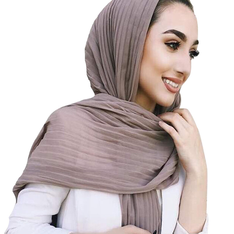 Novelty & Special Use Traditional & Cultural Wear Qualified Qa254 180-85cm Ethnic Casual Female Turban Chiffon Fold Women Hijab Muslim Headband Soft Comfortable Long Scarf