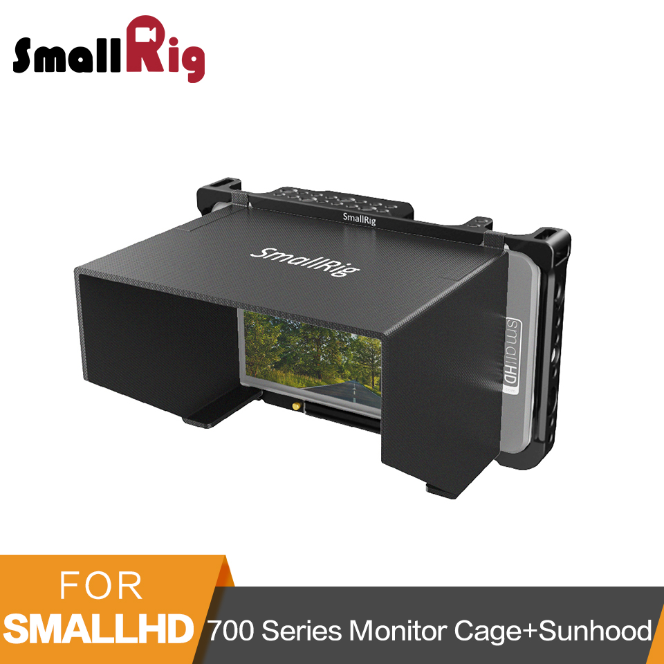 Cage de moniteur de SmallRig avec le capot de soleil pour le moniteur d'écran de la série SmallHD 700 701 Lite/702 Lite/702 moniteur lumineux capot d'affichage à cristaux liquides-2131