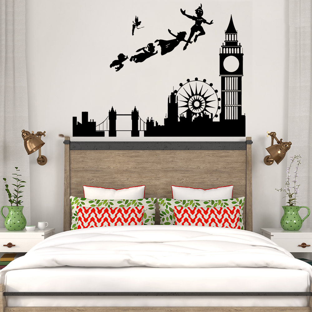 Wall Stickers For Kids Rooms Decal Peter Pan London ... on Room Decor Stickers id=88797