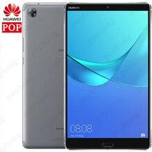 Küresel ROM HUAWEI Mediapad M5 4G LTE çağrı telefonu 4GB 64GB 8.4 inç Kirin 960 Octa çekirdek android 8.0 2560x1600 parmak izi 5100mAh