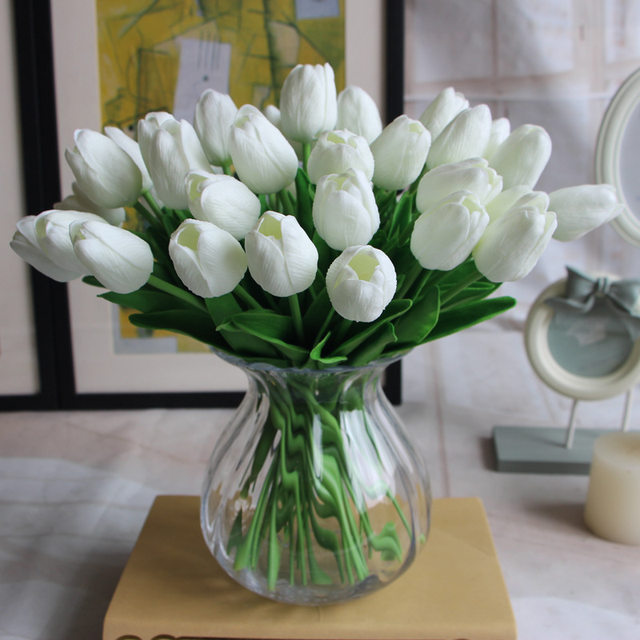 Online Shop 30pcspack Real Touch Tulips Home Wedding Decoration