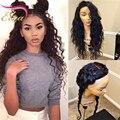Grado superior Del Pelo Humano Pelucas 130% densidad Brasileña Llena Del Cordón humano pelucas de cabello virgen Pelucas Delanteras Del Cordón con el Pelo Del Bebé para Negro mujeres