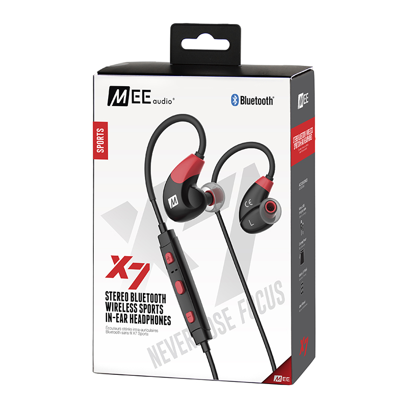 2017 Newest MEE Audio X7 Stereo Bluetooth Wireless Sports Running In-Ear HD Headphones With Mic Calls Control Earphone Headset mee audio connect bluetooth wireless hifi hd headphone system t1h1 for tv bluetooth wireless audio transmitter and headset