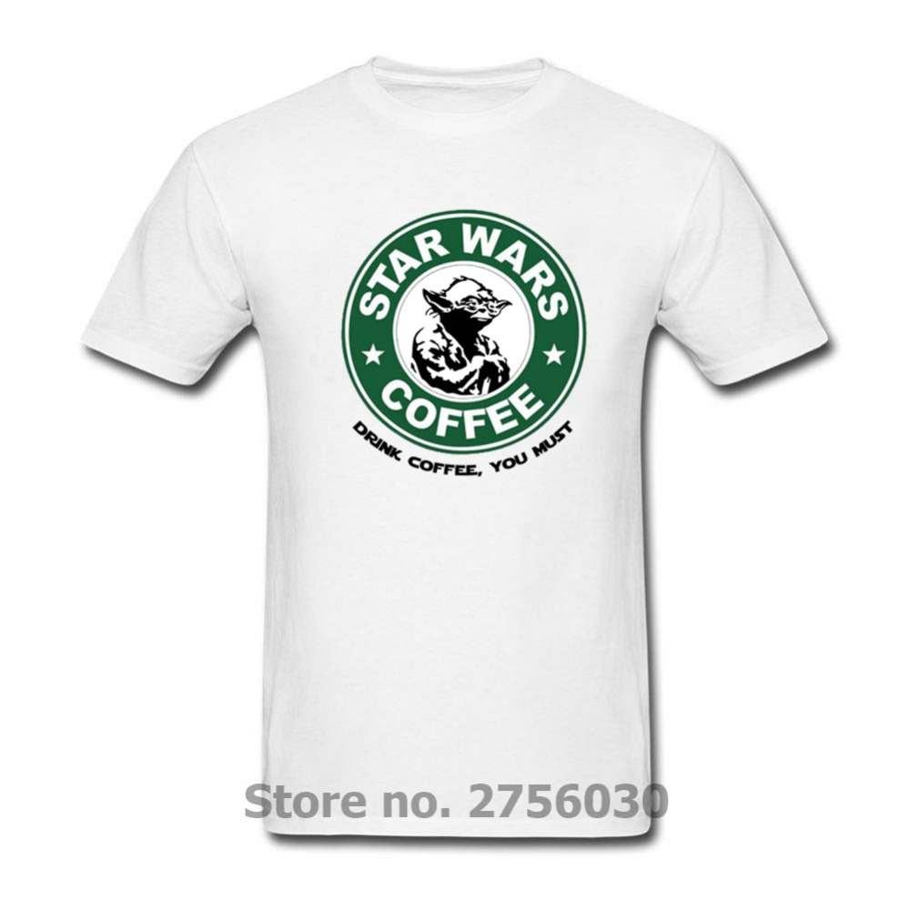 d33404daf Famous Movies Logo Design Star Wars DJ Yoda T Shirts Master Novelty Tees  Techno Headphones Fashion Star Wars Coffee Men t-shirts