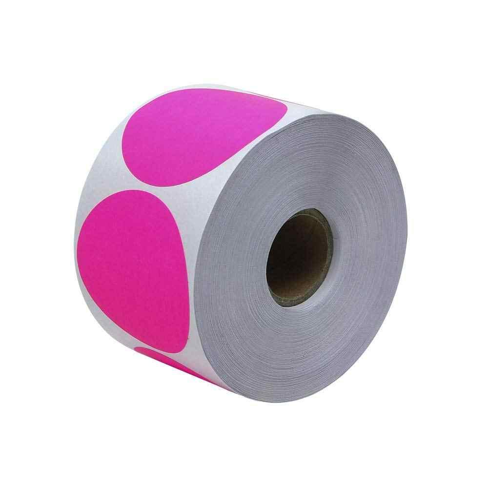 البلاط و ملصقا 2 بوصة جولة الفلورسنت الوردي اللون الترميز نقطة تسميات-500 الملونة دائرة ملصقات لكل لفة اطلاق النار أهداف