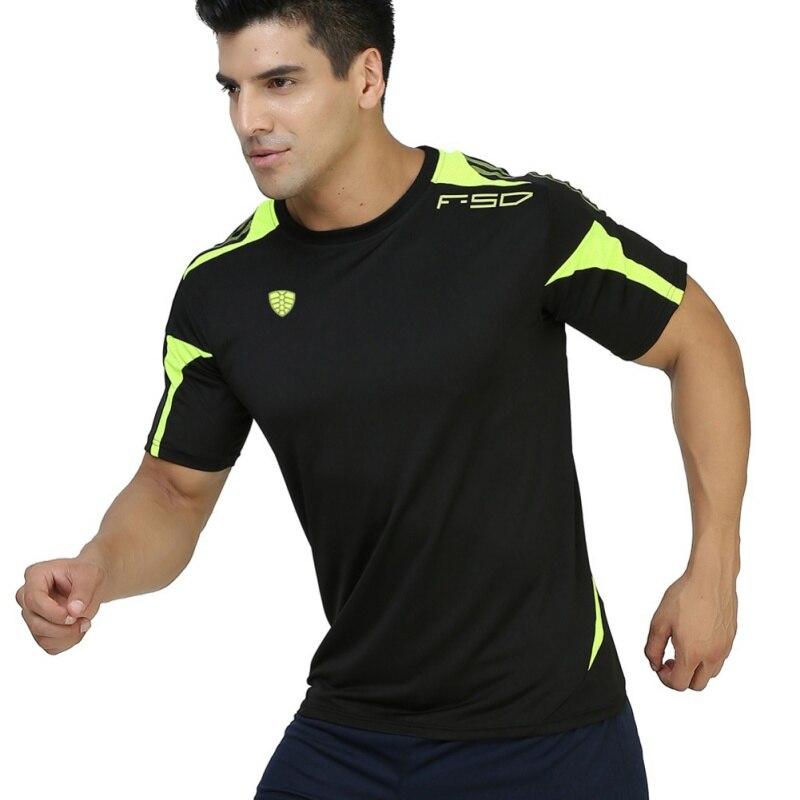 Men's Quick Drying T-shirt Sportswear Brand Man Sport Running Wicking Short Sleeved T shirts Men Tops LS06