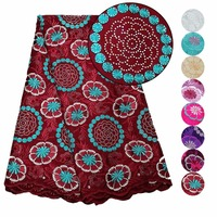 Ourwin swiss voile lace in switzerland wine 100 cotton nigerian lace fabrics with stones african fabric lace for dresses