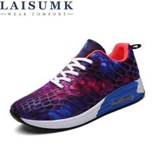 2019 LAISUMK Casual Shoes For Men Spring Summer Lovers Unisex Light Breathable Fashion Laces Male Plus Size 35-45