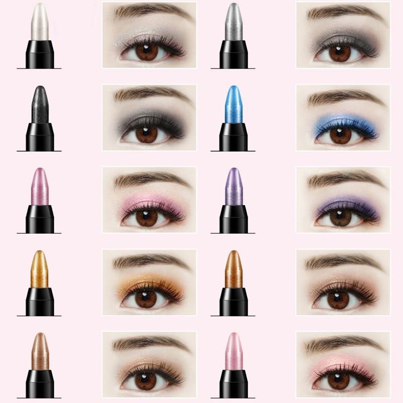 Waterproof Highlighter Eyeshadow Pencil Cosmetic Glitter Eye Shadow Eyeliner Pen 1