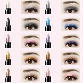 Waterproof Highlighter Eyeshadow Pencil Cosmetic Glitter Eye Shadow Eyeliner Pen 1