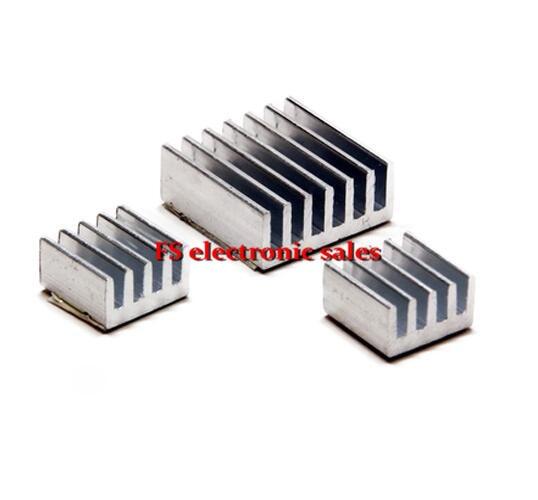 3 pcs Adhesive Raspberry Pi Heatsink Cooler Pure Aluminum Heat Sink Set Kit Radiator For