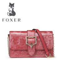 FOXER Women Leather Handbag Ladies Small Shoulder Bags Lovely Clutch Crossbody For Woman Luxury Flap Bag