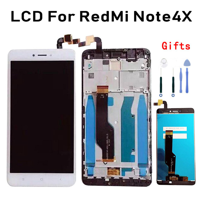 For Xiaomi Redmi Note 4X Xiomi Note4X OEM LCD Screen And Digitizer + Assembly Frame Smartphone Display Touch Replace Par