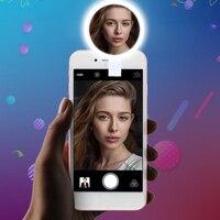 Creative16 LED Mini Runde Kosmetikspiegel Doppel Bewegliche Energienbank mit Clip 3 Licht Helligkeit Nachteinsatz Frauen Bilden spiegel