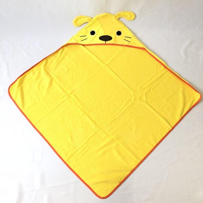 Детское махровое полотенце с капюшоном и изображением животных, халат с изображением животных для малышей, синий От 0 до 6 лет - Цвет: Dog