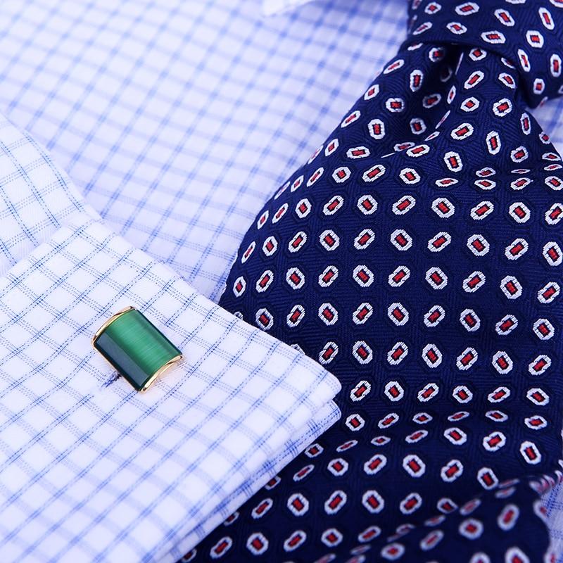 KFLK Schmuck Shirt Manschettenknopf für Herren Brand Green Cuff Link - Modeschmuck - Foto 5