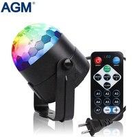3 W מיני RGB LED שלב אור כדור דיסקו 7 צבעי לומייר סאונד הופעל מועדון המפלגה DJ שלב הדלקת אפקט Strobe מנורת DMX להראות