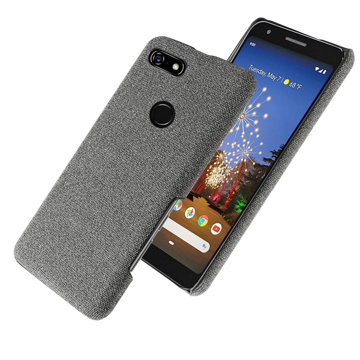 For Google Pixel 3A XL 3A Case Cloth Back Hard PC Cases Fundas Shockproof Matte Cover Google Pixel 4 2 XL Case 3 XL Slim Fabric