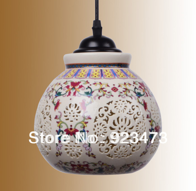 Wholesale new free shipping vintage ceramic chandeliers chinese wholesale new free shipping vintage ceramic chandeliers chinese style ceramic pendant lamp for home living room aloadofball Images