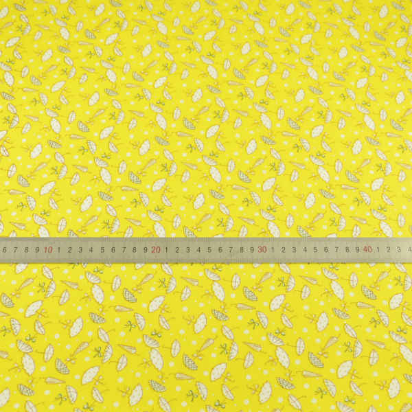 Booksew Home Textile New Arrivals Printed Lovely Umbrella Design Cotton Fabric Yellow Quilting Patchwork Doll Colthing Crafts