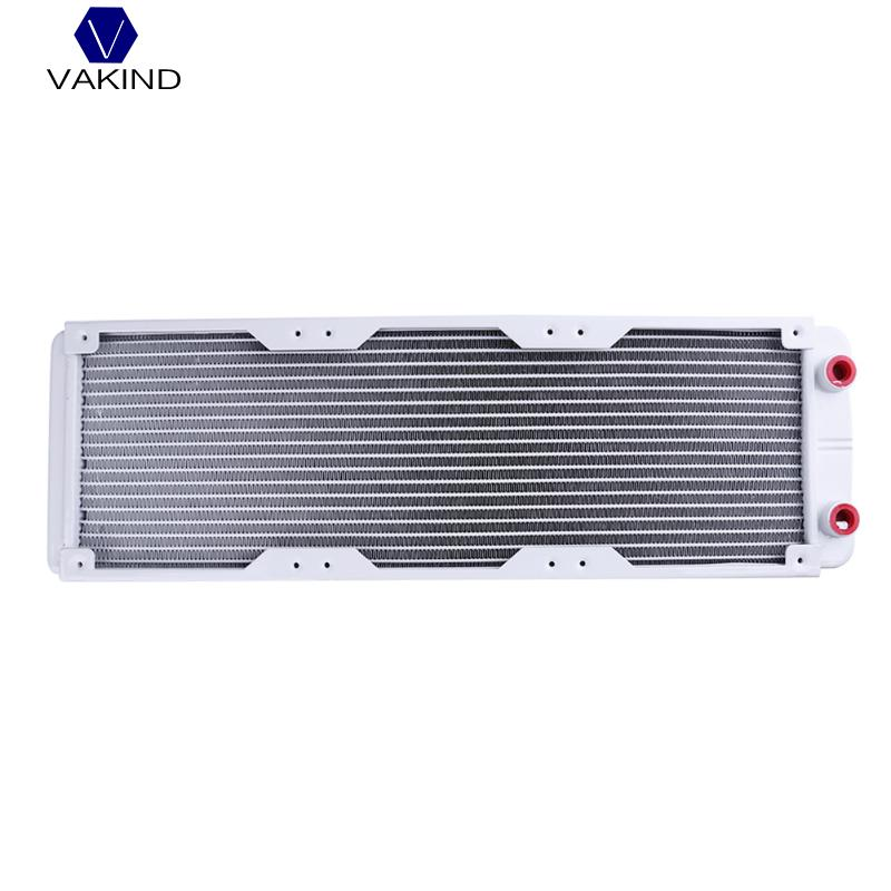 VAKIND White 360mm 18 Tube G1/4 Straight Thread Heat Radiator Exchanger For PC Water Cooling System For PC Computer barrow g1 4 white black silver gold board cross water inlet water fill in port for computer water cooling use tcdzs v1