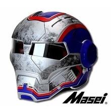MASEI 610 IRONMAN motorcycle helmet War US Captain theme Casque motocross half helmet Personality Cycle Open