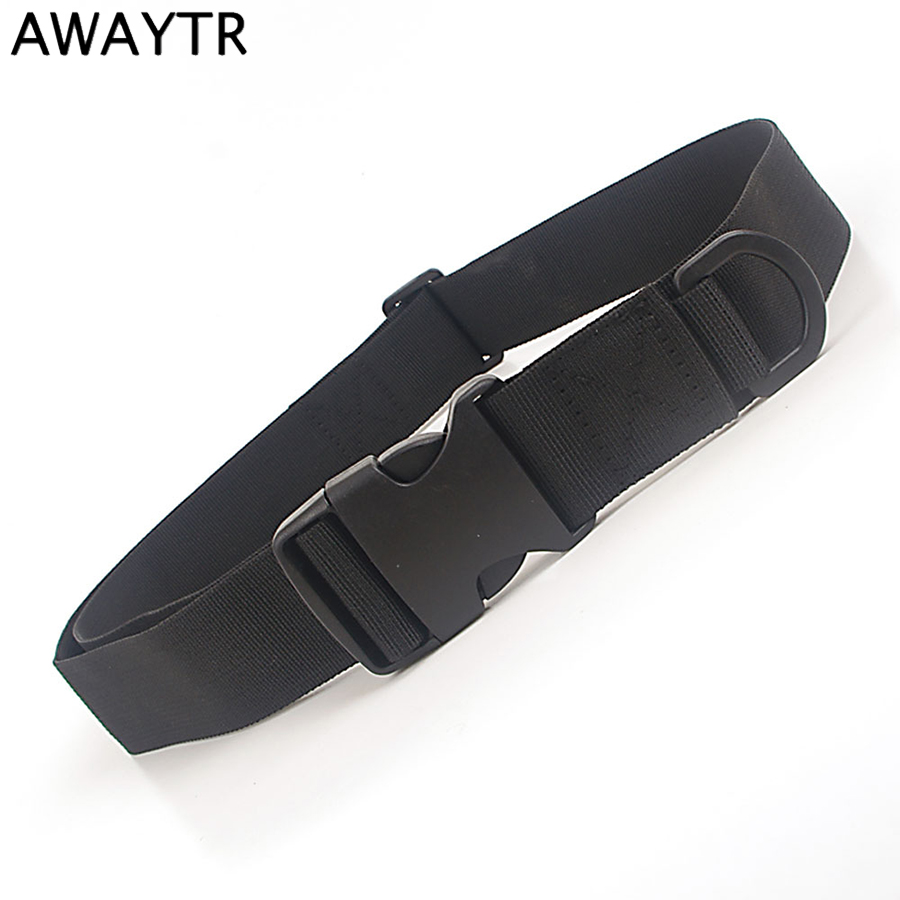 AWAYTR Waist Tactical Adjustable Outdoor   Belt   Military Nylon   Belt   Men Army Style   Belt   Automatic Buckle Black   Belt   for Men Women