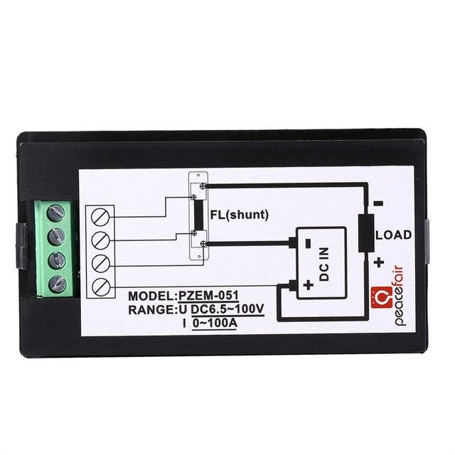 peacefair wholesale 3sets lot dc 50a digital lcd power meter monitor rh aliexpress com