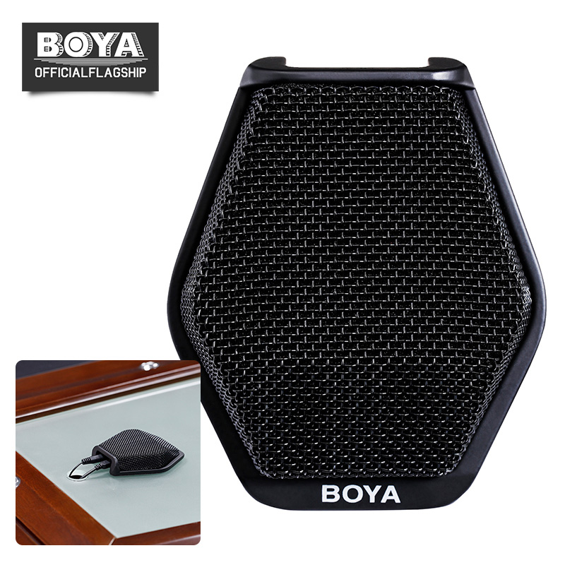 BOYA BY-MC2 Condenser Conference Microphone Super-cardioid Conference Computer Mic 3.5mm Jack USB Interface for Meeting Speech
