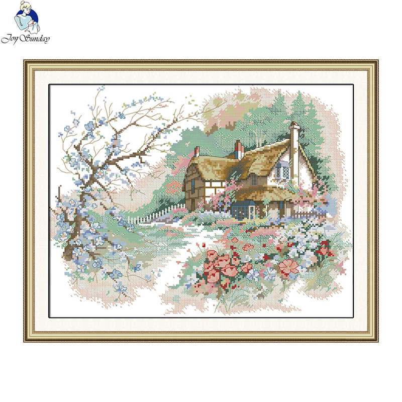 Joy Sunday The Run of The Country Needlework Cross Stitch Set for Embroidery Kit Cross-Stitch Handwork Wedding Cross Stitch Kits