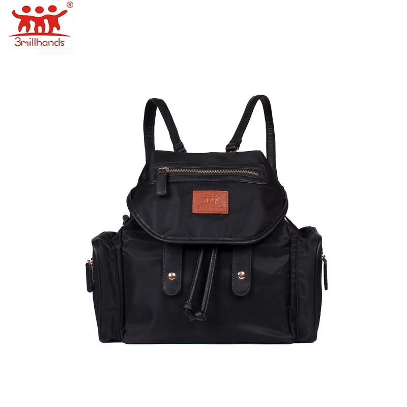 Casual nylon Travel Backpack Design Nursing Diaper Bag women backpack waterproof string tighten leisure diaper bag
