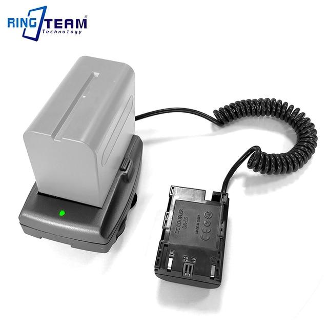 LP E6 Аккумуляторный соединитель DR E6 + NP F970 F750 F550 Монтажная пластина адаптер для BMPCC 4K bmpc4k Blackmagic Pocket Cinema Camera 4K