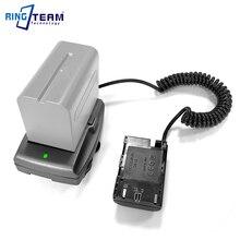 LP E6 coupleur de batterie DR E6 + NP F970 F750 F550 adaptateur de plaque de montage pour BMPCC 4 K BMPCC4K Blackmagic Pocket Cinema Camera 4 K