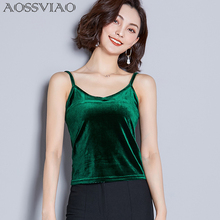2019 Fashion Women Camis Tops Sleeveless Velvet Velour Crop Top Sexy V-neck Club Vest Slim Ladies Camis Female Tank Tops women summer modale tank tops 2019 female sexy slim camis female ladies solid tank top