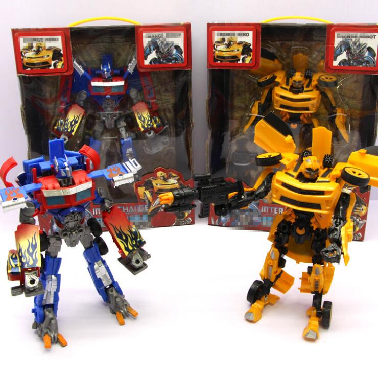 New Style The Autobots Model Toy Anime Series Transformation Action Figure Toy Car Robot PVC Plastic Class Cool Model Bumblebeed transformation robot the last night age of extinction deluxe class figure dark guard exclusive collectible toys