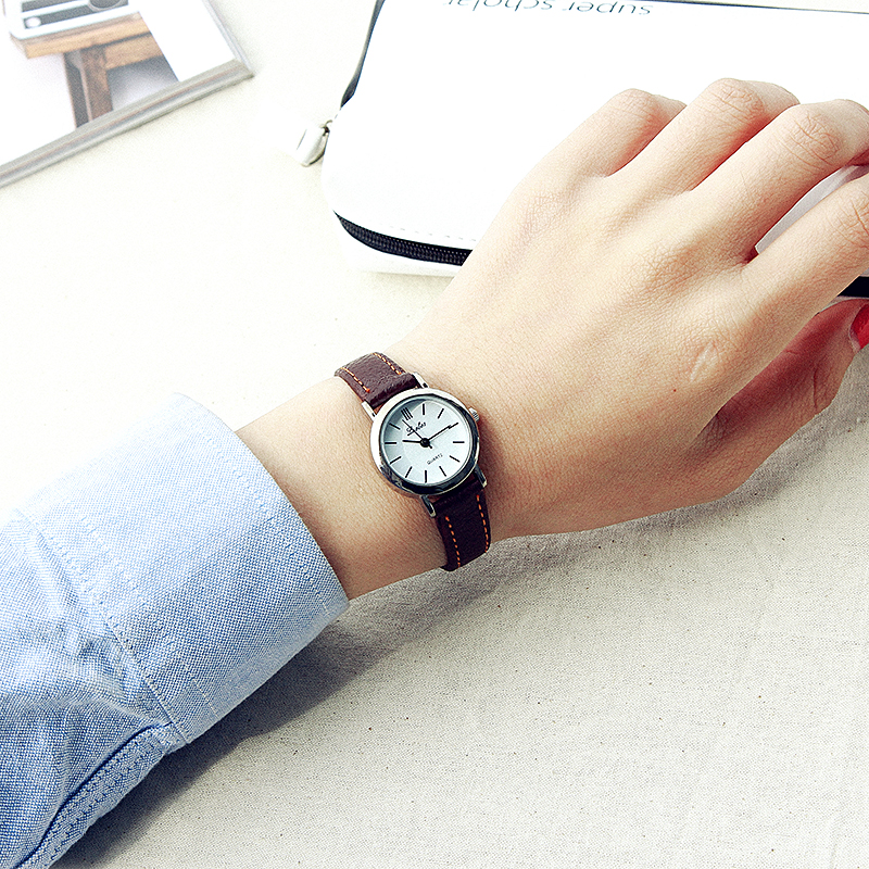 Luobos small dial quartz leather women watch new fashion hot sale watches ladies simple style for Small size womans watch